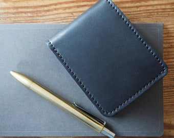 Slim Mens Leather Bifold Wallet   Leather Wallet Men   Leather Wallet   Front Pocket Wallet   Card Wallet   Gift For Men   Groomsmen Gift
