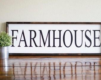 Farmhouse sign, large farmhouse sign, , Farmhouse decor, sign that says farmhouse, kitchen decor, farmhouse kitchen