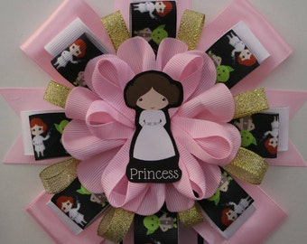 Princess Leia Pink Star Wars Baby Shower Mommy to Be Corsage