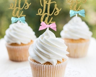Gender Reveal It's a... Its A Cupcake Toppers, Its A..., Gender Reveal Cupcake Toppers, Baby Shower Cupcake Toppers