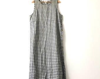 PLAID ANKLE DRESS // 90s // Womens Large // Dress // Basic Dress // Plaid Dress // 90s Dress // Long Dress // Plaid Dress // Ankle Dress