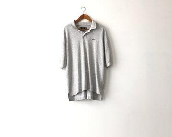 Gray 90s Nike Polo Shirt - XL / Nike Shirt / Nike Golf / Nike Polo / Nike Golf / Golf Polo / Nike Polo / Polo Shirt / Nike / Nike Shirt