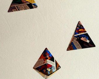 Comic origami mobile