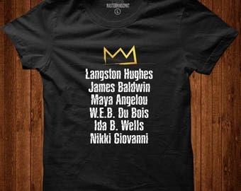 Famous Black Authors Tribute Tee  Black History Month, Black Lives Matter, Black Pride, Black Empowerment