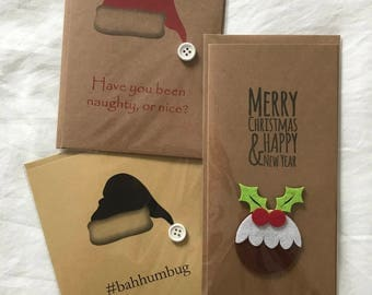 Christmas Cards with Various Designs