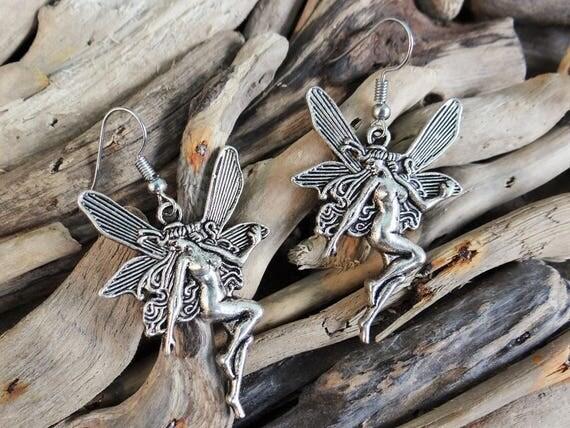 Large Fairy Earrings Fairies Fae Elf Elves Pixies Magic Magical Faery Earring Ear Ring Rings