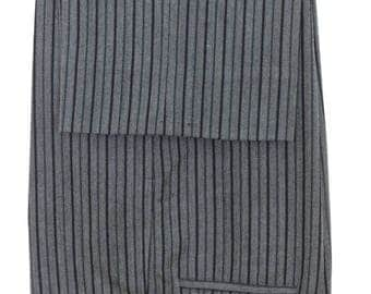 Size 38x30 - 1960's VTG Renzulli Tailors bespoke cashmere stripe formal pants morning suit