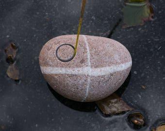 Stone Incense Holder -  Meditation Altar - Sacred Space - Beach Stone Incense Burner - Rustic Home Decor