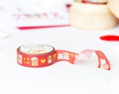 """CNY Collab Washi - Simply Gilded x Wonton In A Million - """"Year Of The Dog"""" - Chinese New Year [Gold Foil Washi, Lucky Red Washi] // W059"""