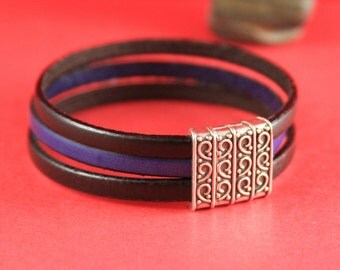 5B/3 MADE in EUROPE zamak 15mm flat cord clasp, flat leather cord clasp, 15mm flat engraved clasp, (TM15X3ETS) Qty1