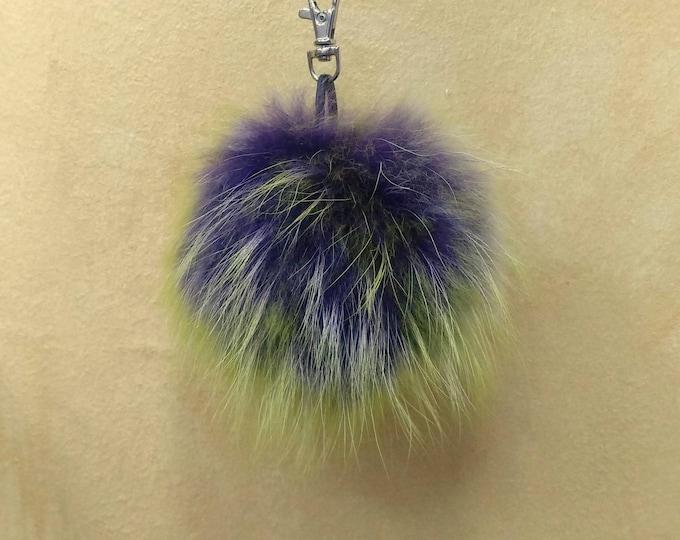 Fox Fur Pom Pom, Bag Pom Pom,Fur keychain F652