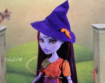 Monster High Custom Repaint Art doll OOAK Jane Boolittle/Witch/Halloween