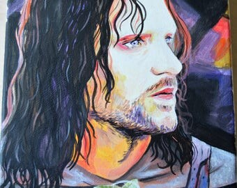 ORIGINAL - Strider - Acrylic painting - canvas - Aragorn - LOTR