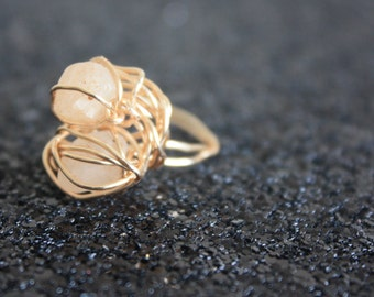 gold filled wire wrapped gemstone