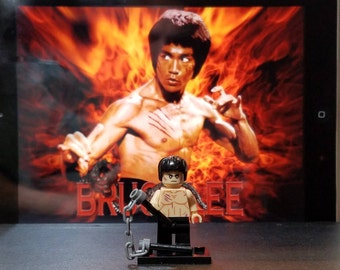 Bruce Lee Inspired Minifigure Enter the Dragon (LEGO Compatible)
