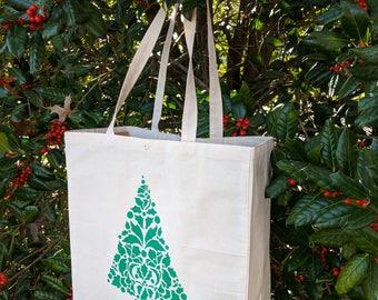 Christmas Gift Bag, Holiday Shopping Bag, Christmas Tote bag, Reusable  Bag, Gift Bag, Shopping Bag, Christmas Bag, Holiday Bag