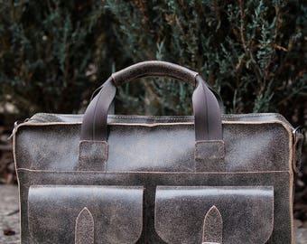 Leather messenger bag for men Khaki messenger bag for men Leather Briefcase for men Men's bag Leather messenger bag Gift for him Valentines