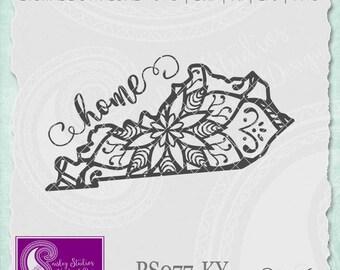 Kentucky Mandala Svg, Kentucky State SVG, Kentucky SVG File, Kentucky State Pride, Kentucky SVG, Silhouette Cut File, Cricut Cut File