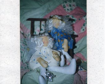 "Free Us Ship Craft Sewing Pattern Unused Aunty Ann 12"" Soft Cloth Country Fairy Doll 1993 Out of Print"