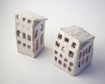 Candle Holder, Ceramic House, Tealight Holder, Candle Lantern, Ceramics And  Pottery,
