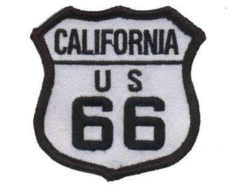 California US Route 66 Patch (Iron on)