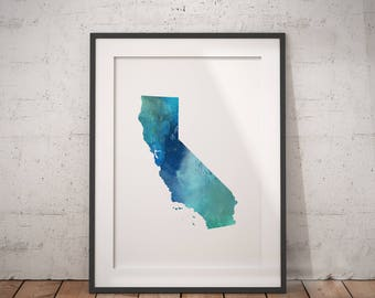 California Print | Marble State Art, LA City Art, Cali Art, Socal, California Abstract, West Coast Art, Sunshine State, Cali Wall Art