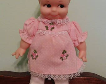 Jesco 1995/6 Kewpie Doll with Pink Dress 8.5""