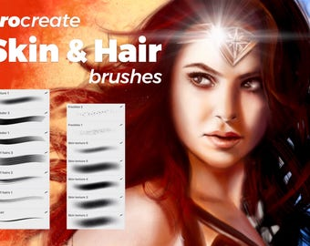Skin and Hair Brushes - Procreate