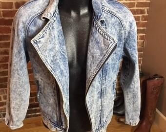 1980's Acid Washed Denim Jacket
