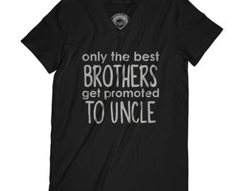 Fathers day shirt brother promoted to uncle tshirt baby announcement shirt new baby gift best brother present  APV35