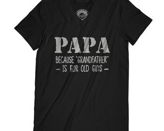 Fathers day shirt baby announcement shirt dad promoted to papa t-shirt new grandpa gift husband present dad gift APV39