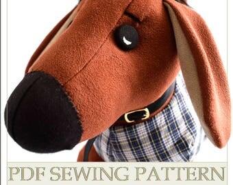 Dog plush pattern, dog stuffed animals, digital art tutorial, Stuffed toy pattern, superduo tutorial, softie pattern, pdf pattern soft toy