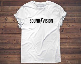 David Bowie shirt, sound and vision tshirt, Bowie gift, Bowie tshirt, fashion shirt, tumblr clothing, tumblr fashion, tshirt women, 90s
