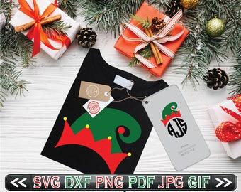 Elf Hat SVG Files Christmas DXF Cricut Clipart Designs  - SVG Elf Hat - svg Christmas Elf Designs - Instant Download