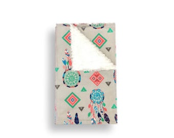 Burp Cloth <<Dreamcatcher>> Baby/Toddler/Drool//Green//Pink//Gray//White//Blue//Native American