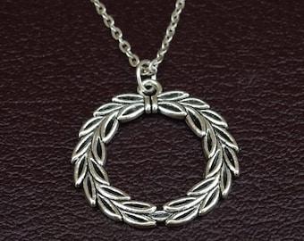 Laurel Wreath Necklace, Laurel Wreath Charm, Laurel Wreath Pendant, Laurel Wreath Jewelry, Laurel Necklace, Laurel Jewelry, Apollo Greek God