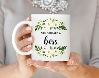 Girl Boss Mug, Girl Boss Gift, Boss Babe Coffee Mug, Coworker Gift, Christmas Gift, Best Friend Gift, Graduation Gift, Promotion Gift