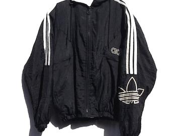 Small 90's Vintage Adidas Hooded Jacket