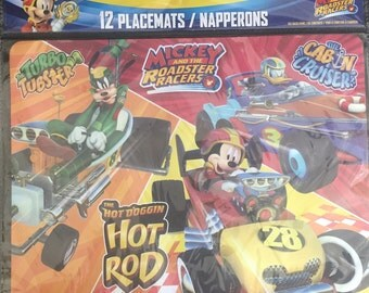Mickey and the Roadster Racers Paper Placemats 12ct