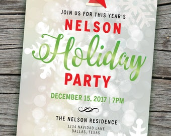 Holiday Party Invitation | Christmas Party Invite | Holiday Invite | Christmas Digital Invite | Holiday Party Invite