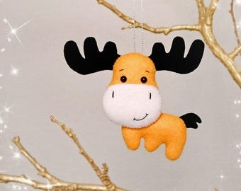 Christmas Decorations Moose Decor Nursery Animal Lover Gift Christmas Tree Decorations Christmas Gifts For Friends Moose Gift New Years Gift