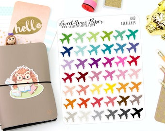 Airplane Planner Stickers - Icon Planner Stickers - Plane Planner Stickers - Vacation Planner Stickers - Planner Stickers - 002