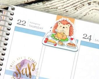 Magnetic Bookmark - Thanksgiving Bookmark - Turkey Magnetic Bookmark - Hedgehog Magnetic Bookmark - Book Accessories - Planner Accessories