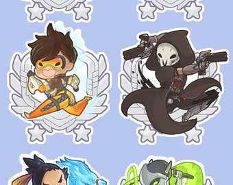 Overwatch Holographic Stickers 3 x 3 in INDIVIDUAL OR SET