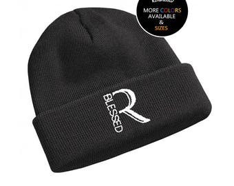 Real Blessed Logo Knit Beanie - Black - White - Gold - Neon - Pink