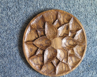 Hand Carved Wood Wall Art