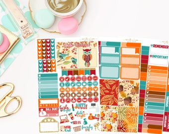 Autumn Personal Kit,  planner stickers