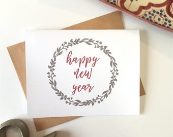 New Years Card, New Years Eve, Happy New Year Card Set, New Year Greeting, Happy New Year, 2018 New Years Cards, 2018 Greeting Card Set