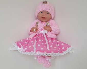 Baby Dolls Clothes Ensemble for 14 inch dolls / BERENGUER / CUPCAKE / La Newborn / Reborn