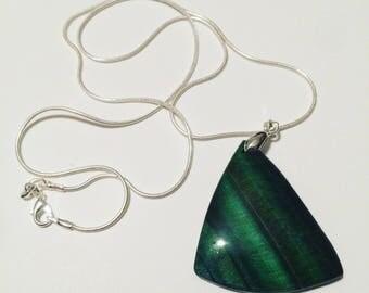 Jade Agate Geode Pendant Necklace